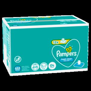 Pampers Feuchttücher Fresh Clean 12x52 Stück