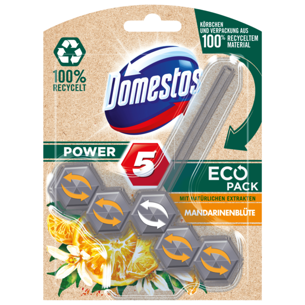 Domestos Power 5 Eco Pack Mandarinenblüte 55g