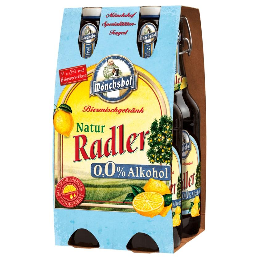 Mönchshof Radler natur alkoholfrei 4x0,5l