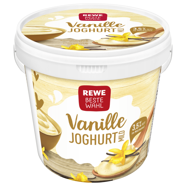 REWE beste Wahl Vanille Joghurt Mild 3,5% Fett 1kg