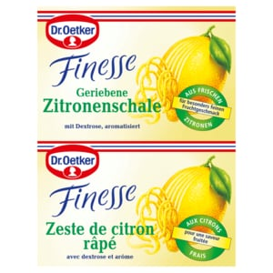 Dr. Oetker Finesse geriebene Zitronenschale 2 Stück