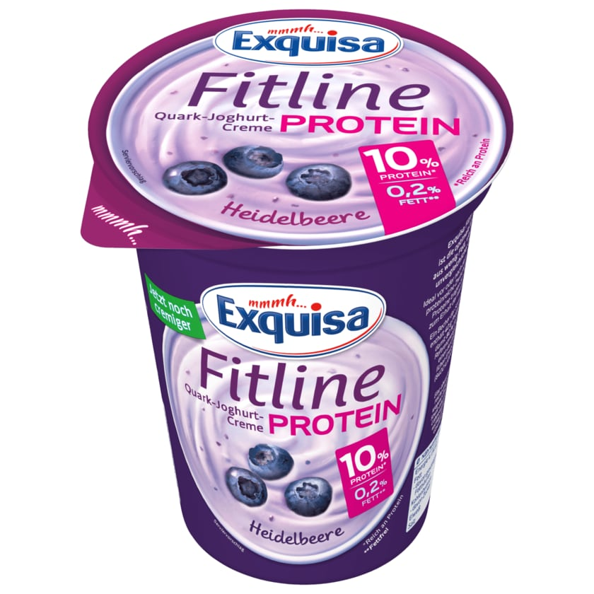 Exquisa Protein Fitline Quark-Joghurt-Creme Heidelbeere 400g