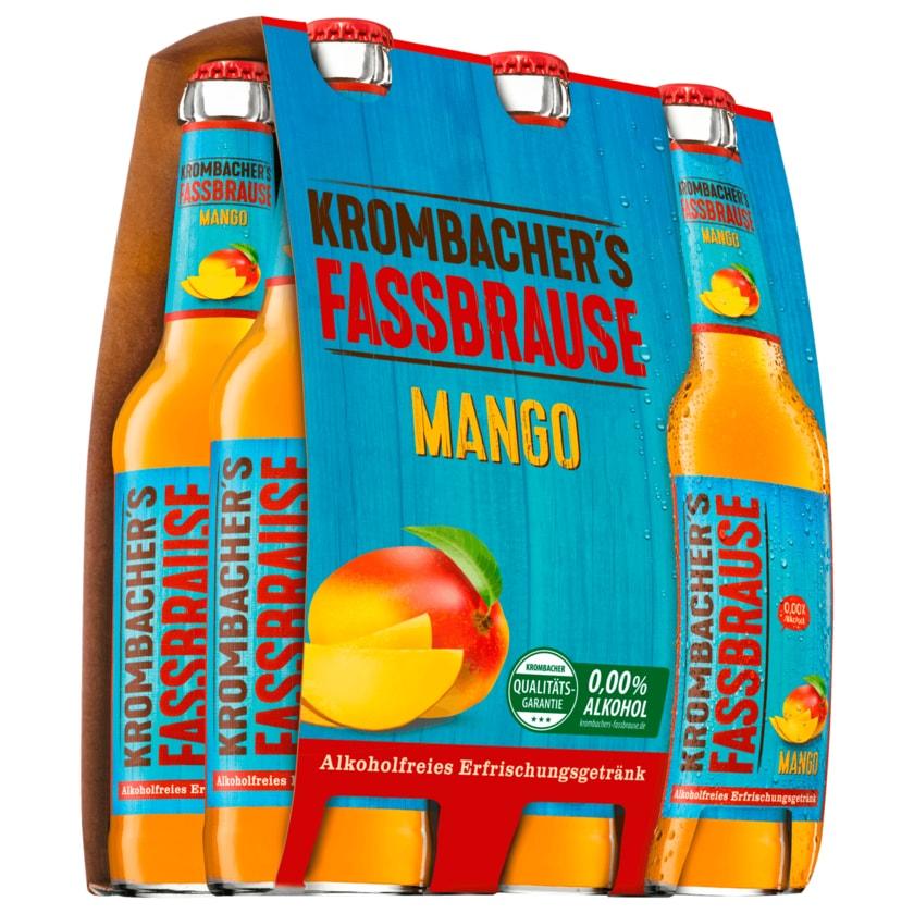 Krombacher´s Fassbrause Mango 6X0,33l