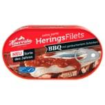 Hawesta MSC Heringsfilets BBQ mit geräuchertem Schinken 190g