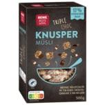REWE Beste Wahl Knusper Müsli Triple Choc -30% Zucker 500g