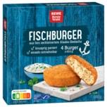 REWE Beste Wahl Fischburger Alaska-Seelachs 4x62,5g, 250g