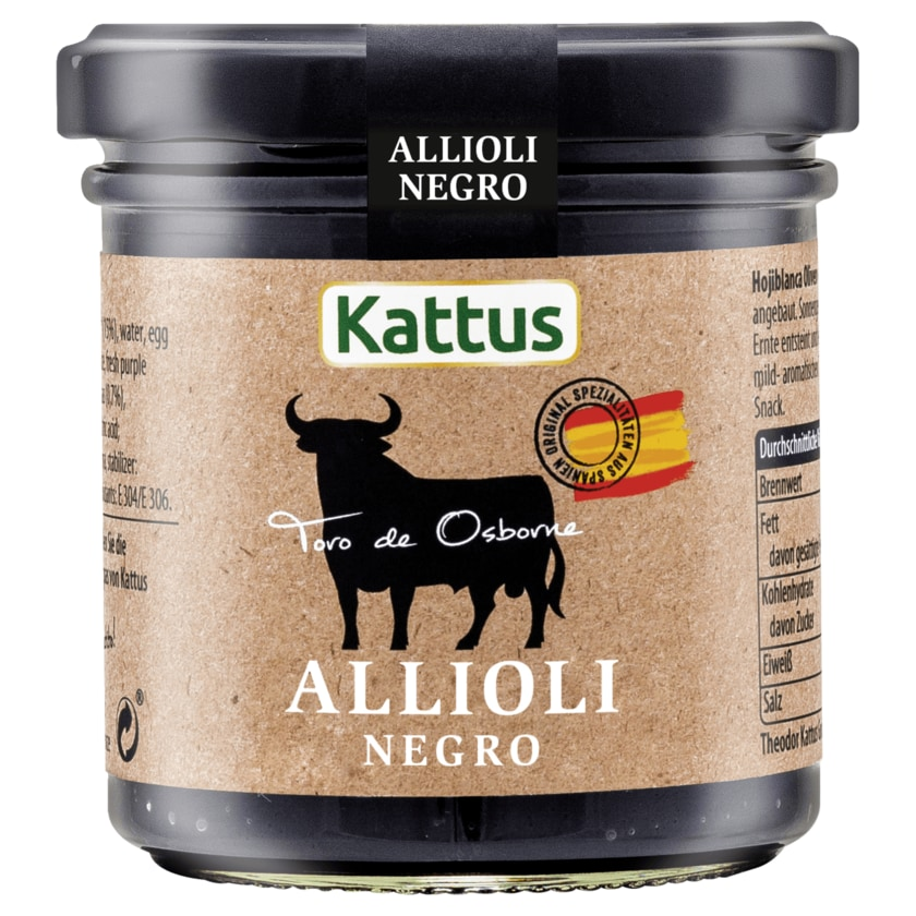 Kattus Toro de Osborne Allioli Negro 140ml