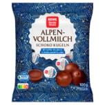REWE Beste Wahl Alpenvollmilch Schoko Kugeln mit Alpen-Vollmilchschokoladenfüllung 100g