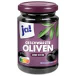 Ja! Oliven geschwärzt ohne Stein 320g