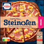 Original Wagner Steinofen Pizza Hawaii Schinken Ananas tiefgefroren 380g