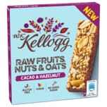 W. K. Kellogg Bar Raw Fruits, Nuts & Oats Cacao & Hazelnut 4x30g
