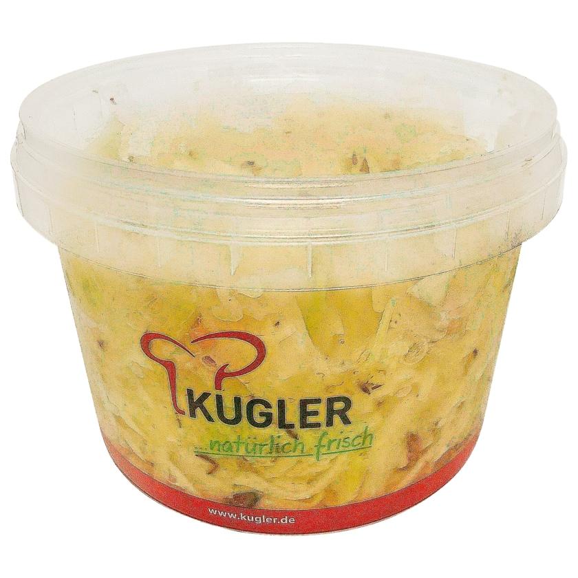 Kugler Weißkrautsalat mit Speck und Kümmel in Essig-Öl-Dressing 500g