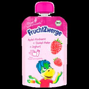 Fruchtzwerge BIO Apfel, Himbeere, Dinkel-Hafer, Joghurt 90g