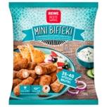 REWE Beste Wahl Mini Bifteki Schweinehackfleischröllchen gefüllt 35-40 Stück, 750g