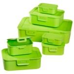 Frischhaltedosen Set grün 7-teilig