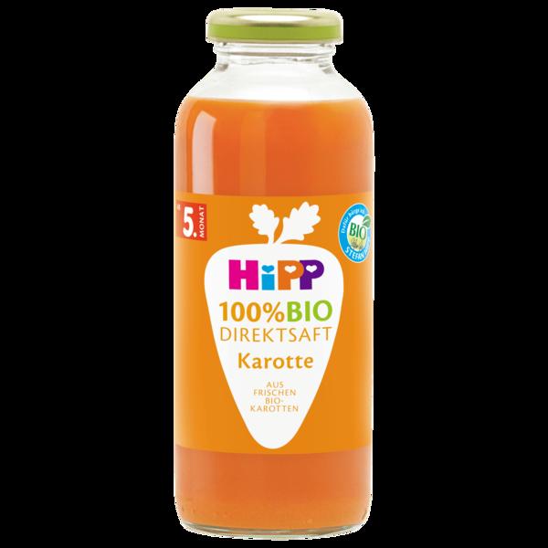 Hipp 100% Bio Direktsaft Multifrucht mit Karotte nach dem 4. Monat 330g