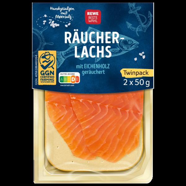 REWE Beste Wahl Räucher-Lachs 2x50g