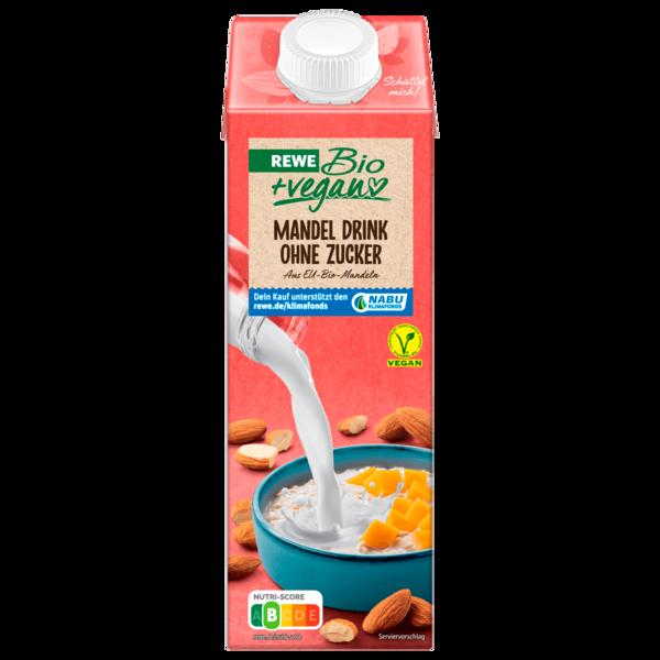 REWE Bio Mandel Drink Natur ohne Zucker 1l
