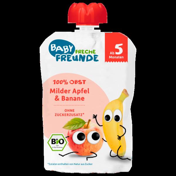 Freche Freunde Bio Quetschie Milder Apfel & Banane ab dem 5. Monat 100g