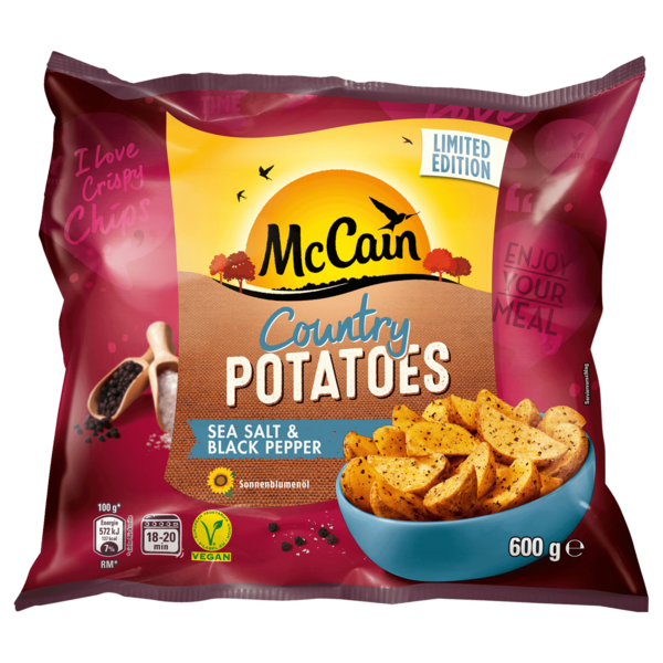 Mccain Country Potatoes 600g