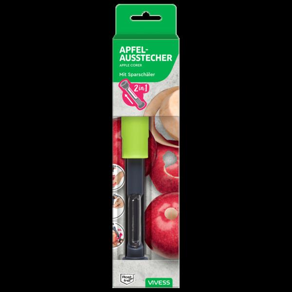Vivess 2in1 Apfelausstecher mit Sparschäler