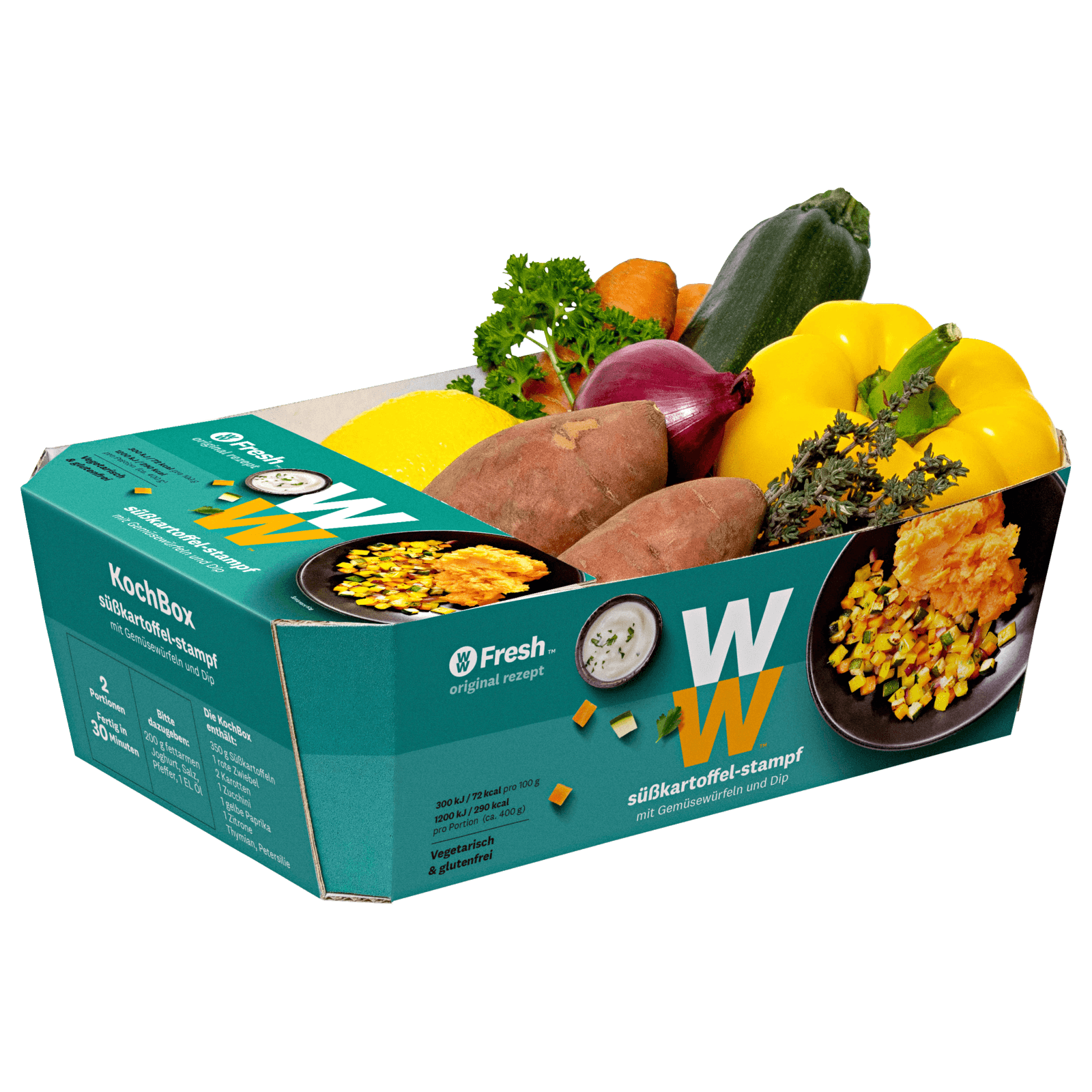Weight Watchers Kochbox Süßkartoffelstampf