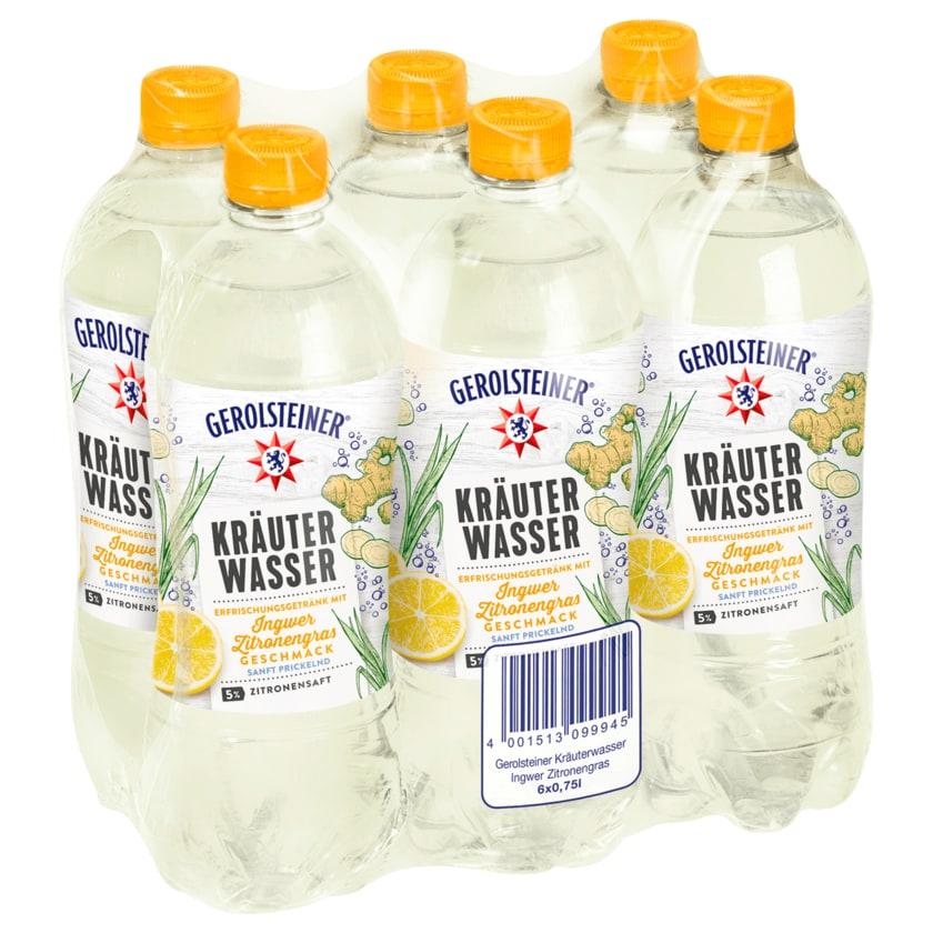 Gerolsteiner Kräuterwasser Ingwer-Zitronengras 6x0,75l