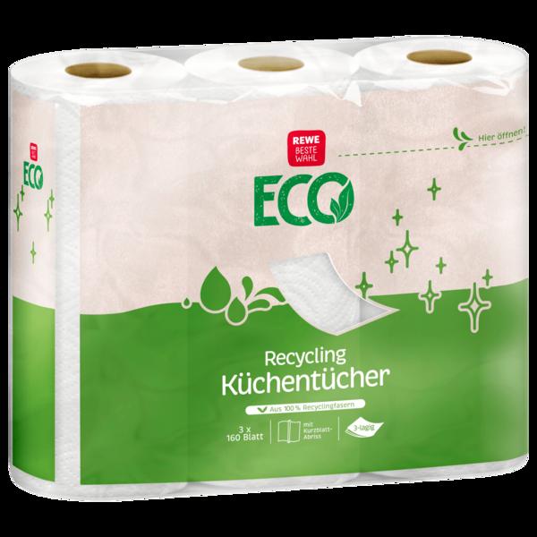 REWE Beste Wahl Recycling Küchentücher 3x160 Blatt