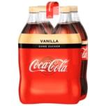 Coca-Cola Vanilla ohne Zucker 4x1,5l
