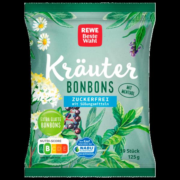 REWE Beste Wahl Kräuter Bonbons zuckerfrei 125g