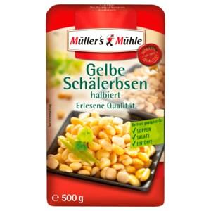 Müller's Mühle Halbe Gelbe Schälerbsen 500g