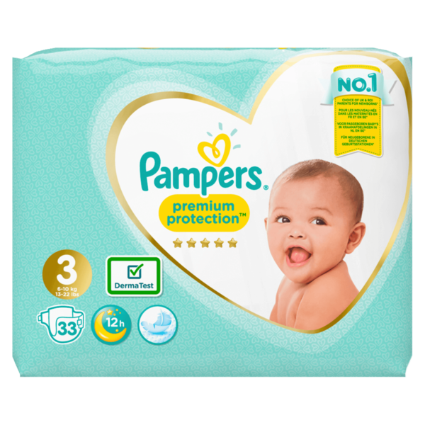 Pampers Premium Protection Windeln Gr.3 Midi 6-10kg Einzelpack 33ST