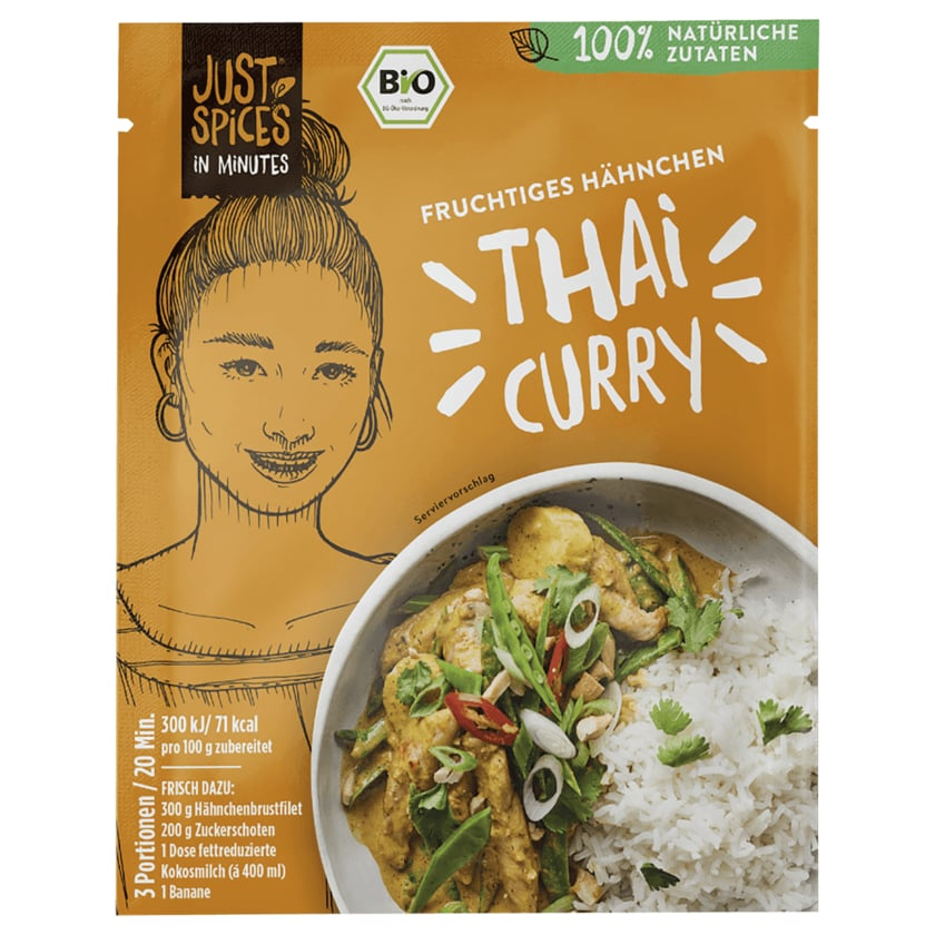 Just Spices In Minutes Tasty Bio Thai Curry 40g