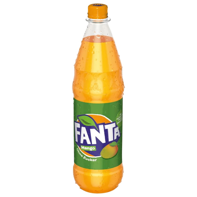 Fanta Mango ohne Zucker 1l