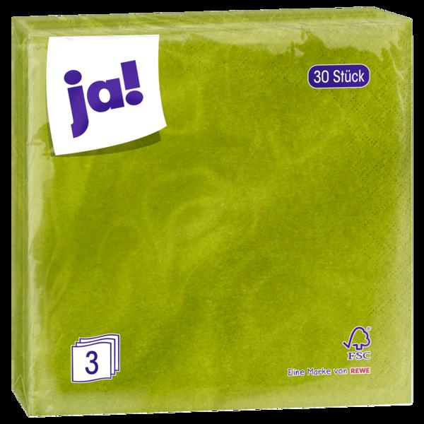 ja! Zelltuch-Servietten grün 30 Stück