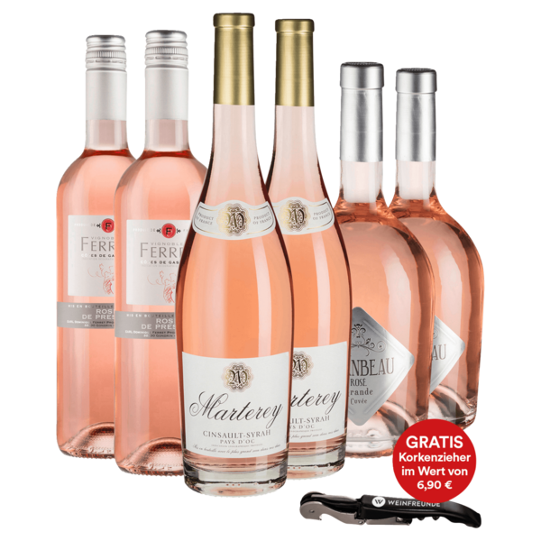 Wein-Set Rosé trocken 6x0,75l