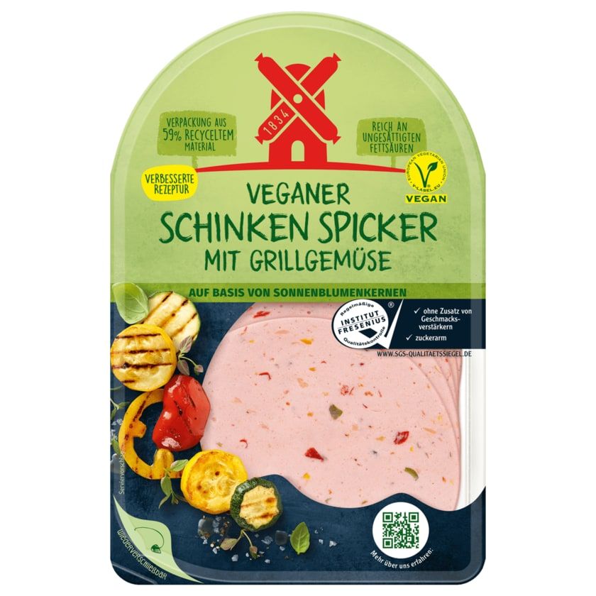 Rügenwalder Mühle Veganer Schinken Spicker mit Grillgemüse 80g