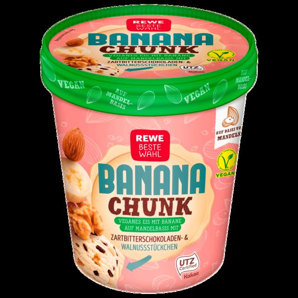 REWE Banana Chunk veganes Eis 500 ml