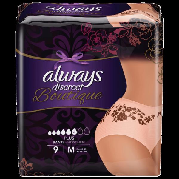 Always Discreet Boutique Pants Plus Größe M 9 Stk.