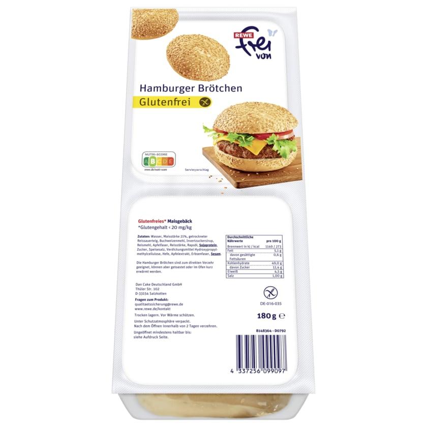 REWE Frei von Hamburger Brötchen glutenfreies Maisgebäck 180g