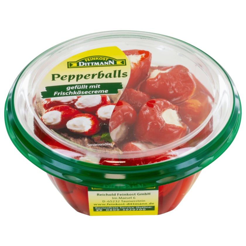 Feinkost Dittmann Pepperballs gefüllt mit Frischkäsecreme 280g