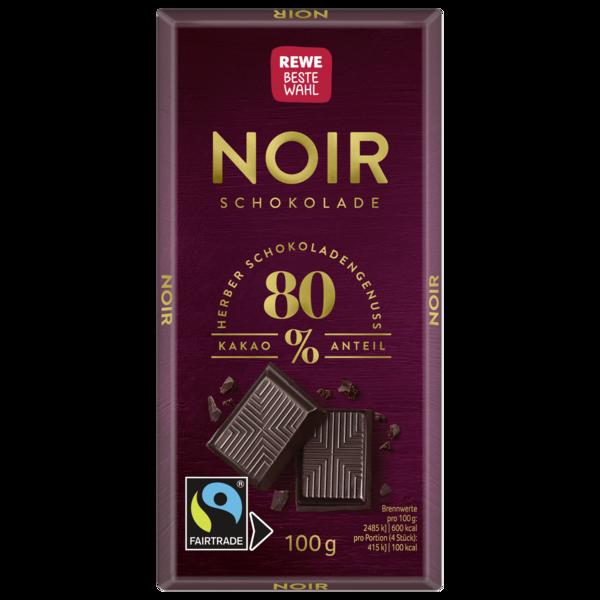 REWE Beste Wahl Noir Schokolade 100g