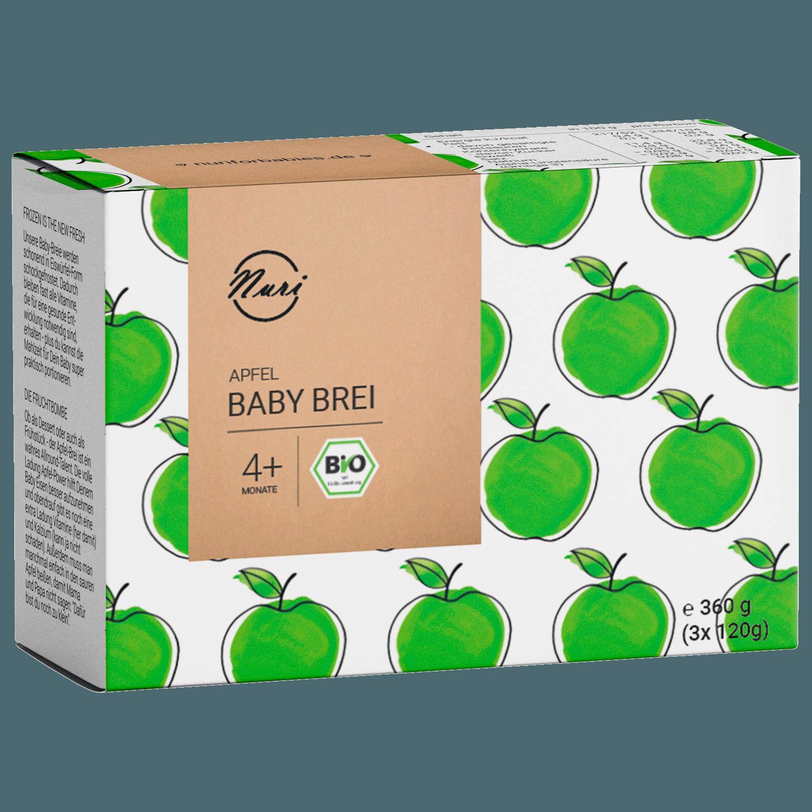 Nuri Bio Baby Brei Apfel 2x190g