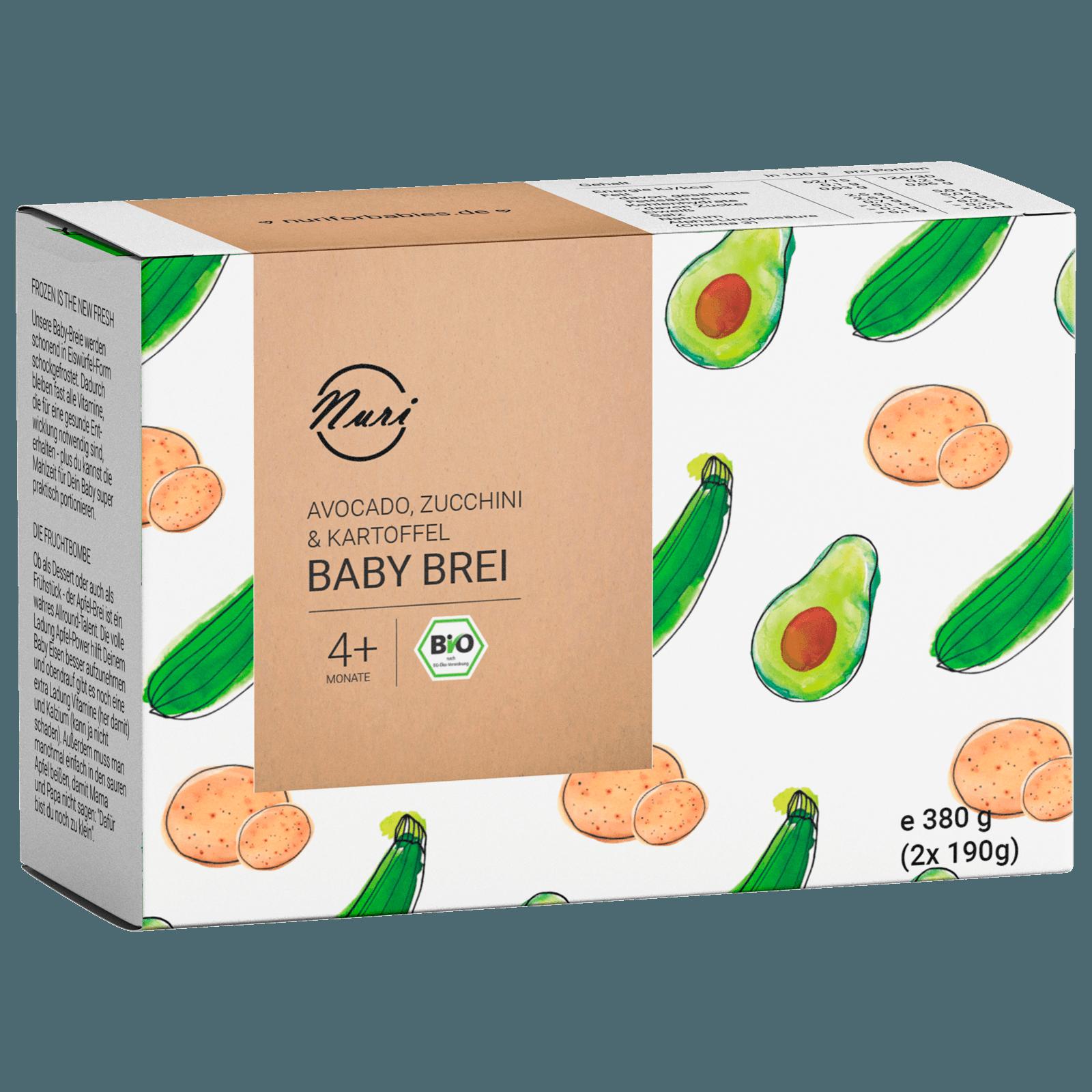 Nuri Bio Baby Brei Avocado 2x190g