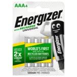 Energizer NiMH Akkus Universal Micro (AAA) 500 mAh vorgeladen 4 Stück