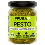 PPura Bio Pesto Basilikum Limette & Cashews 120g