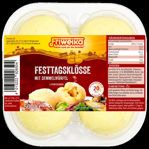 Friweika Festtagsklösse mit Semmelwürfel 500g