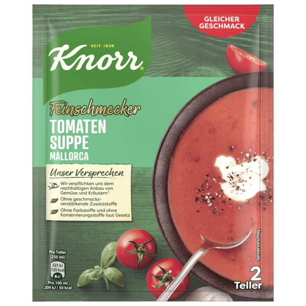 Knorr Feinschmecker Tomatencremesuppe 500ml