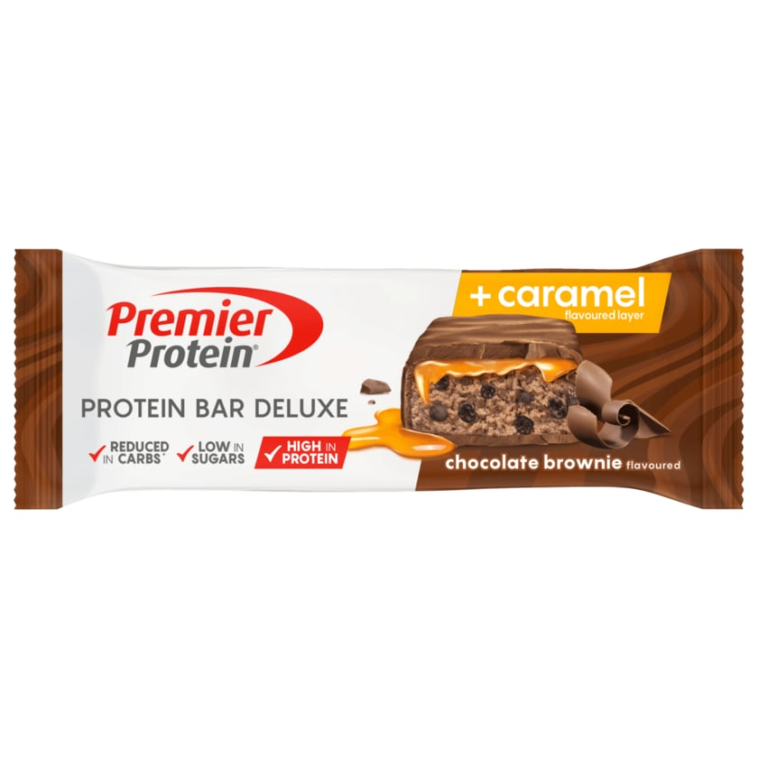 Premier Protein Riegel Schokolade Brownie Caramel 50g