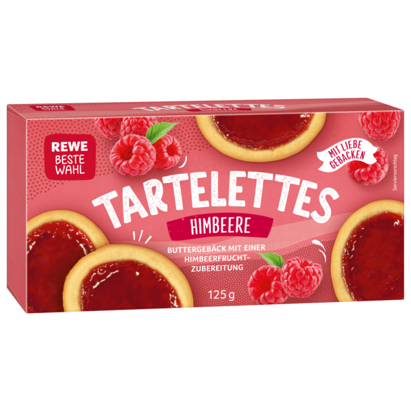 REWE Beste Wahl Tartelettes Himbeer 125g